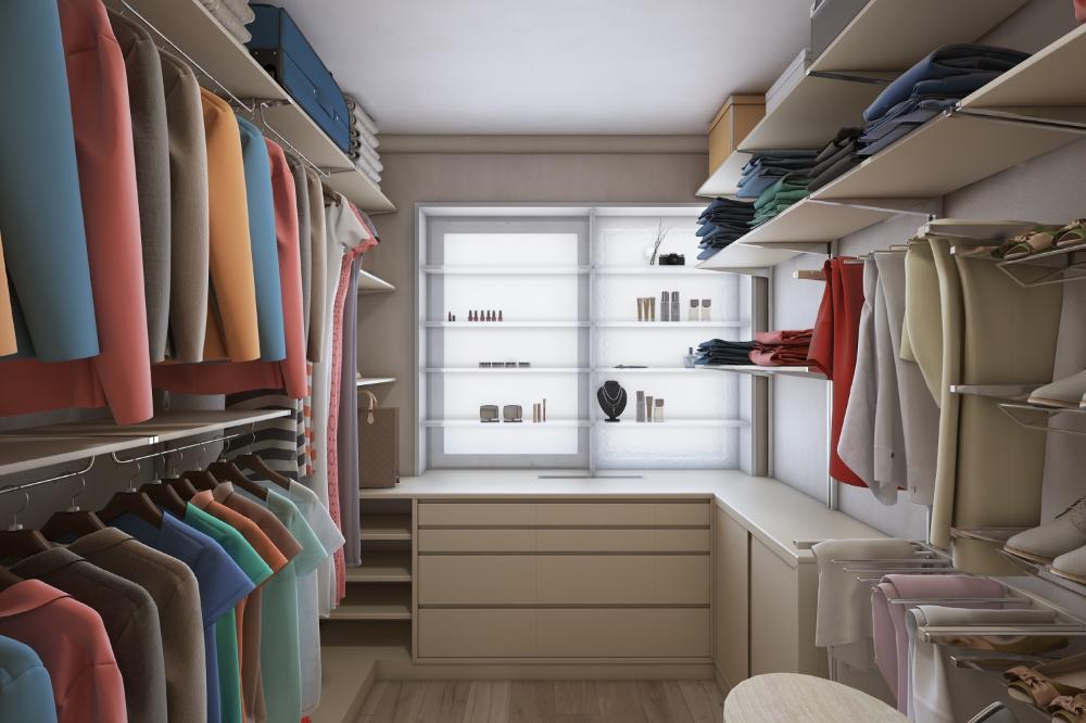 Межкомнатные окна в гардеробной